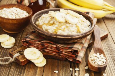 Bild Porridge mit Bananen