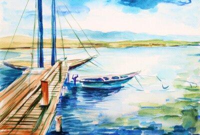 Bild Port nad jeziorem genewskim - Illustration von Malawana