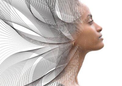 Bild Portrait combined with a digital illustration