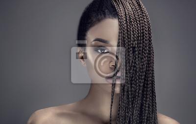 Bild Portrait der schönen afrikanischen Mädchen.