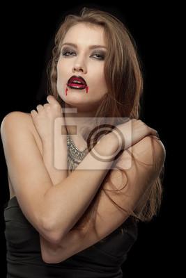 Portrait einer blass gotische Vampirfrau
