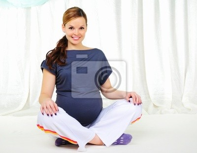 Portrait einer jungen schwangeren Mädchen