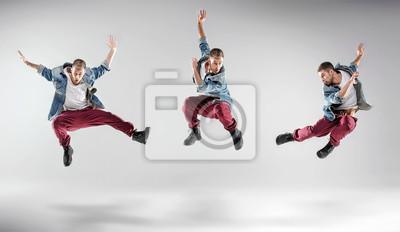 Portrait eines mehrfachen tanzenden Kerls