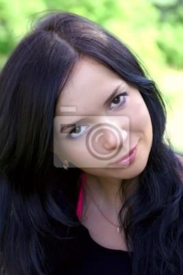 Portrait of girl of brunette