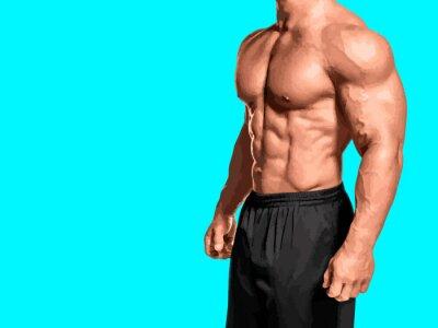 Bild portrait of muscular man