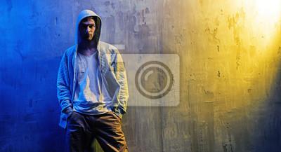 Porträt eines schweren Hip-Hop-Jungen