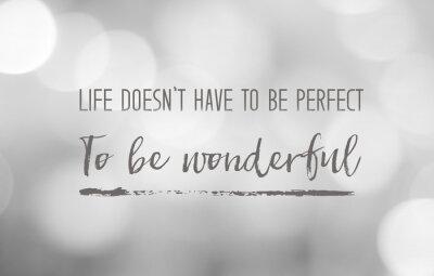 Bild Positives Denken Leben Zitat auf Unschärfe Hintergrund