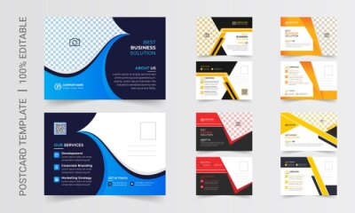 Bild Postcard design template. Postcard real estate, business postcard, postcard template, post card, postcard layout