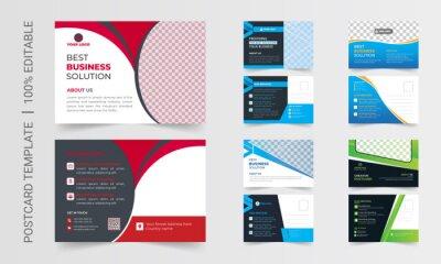 Bild Postcard design template. Postcard real estate, business postcard, postcard template, postcard, postcard layout