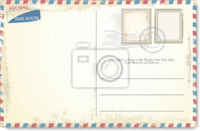 Bild Postcard vector in air mail style