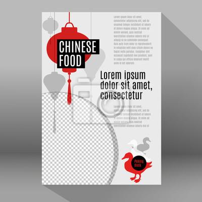 Poster-design-vorlage für corporate identity chinesischen restaurant ...