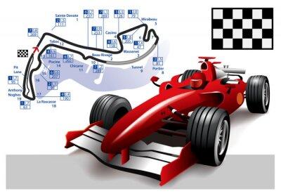 Bild Poster Monaco Formel-1-Grand-Prix