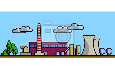 Power station vector background