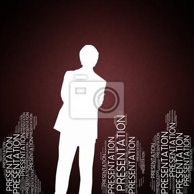 Bild Präsentation - Konzept Tapete mit Mann Silhouette