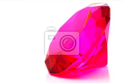 Precious rosa Diamant auf weiß