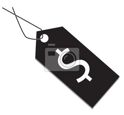 Preisschild Symbol Preisschild Auf Weißem Hintergrund