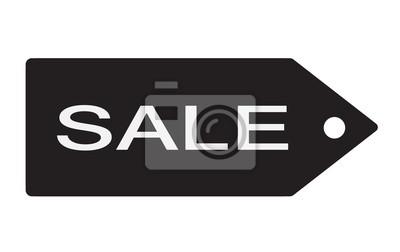 Preisschild Verkauf Weiß Und Schwarz Leinwandbilder Bilder