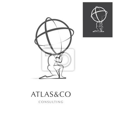 Bild PREMIUM CORPORATE VEKTOR LOGO / ICON DESIGN, ATLAS HOLDING DIE WELT