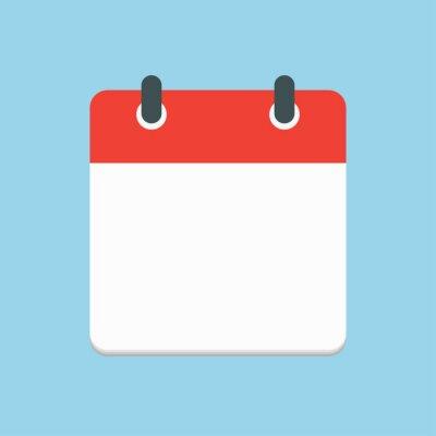 Bild PrintVector icon square calendar day, empty space