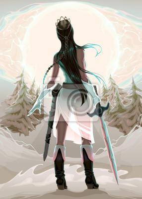 Prinzessin Krieger im Holz