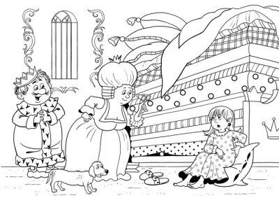 Prinzessin Und Die Erbse Marchen Der Konig Die Konigin Und