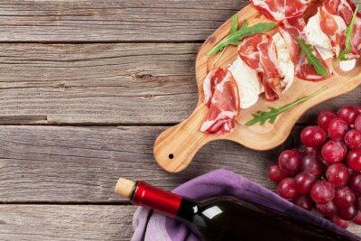 Bild Prosciutto und Mozzarella mit Rotwein