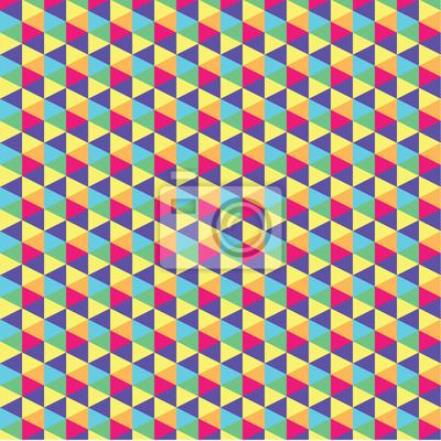 Psychedelic Dreiecke siebziger inspiriert Hintergrund.