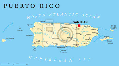 Bild Puerto Rico Political Map