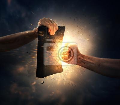 Bild Punching the Bible