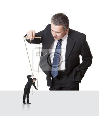 Puppenspieler. Behörde General Manager. Konzept