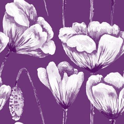 Bild Purple and white poppy pattern