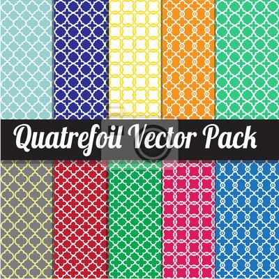 Quatrefoil Vector pack - different quatrefoil patterns, easy to change the background colour.