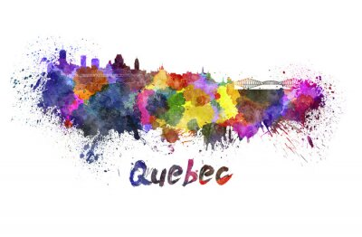 Bild Quebec Skyline in Aquarell