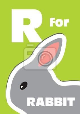 R für die Kaninchen, ein Tier-Alphabet für Kinder