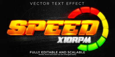 Bild Racer speed text effect, editable sport and champion text style
