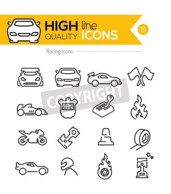 Bild Racing Line Icons
