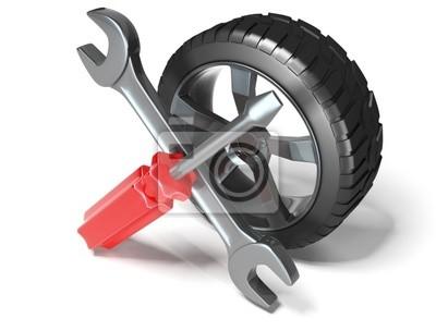 Bild Rad und Werkzeuge
