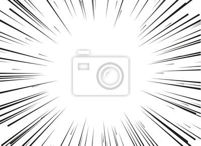 Bild Radialzeilen für die Comic-Bücher getrennt auf weißem Hintergrund. Comic-Aktionsrahmen. Vektor-Illustration.