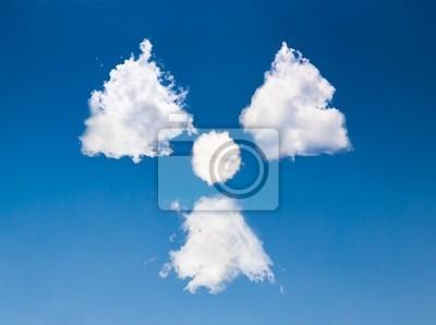 radioaktiven Wolke
