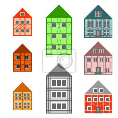 Rahmen Häuser gesetzt