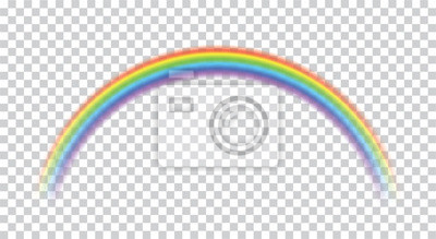 Bild Rainbow icon realistic. Perfect icon isolated on transparent background - stock vector.