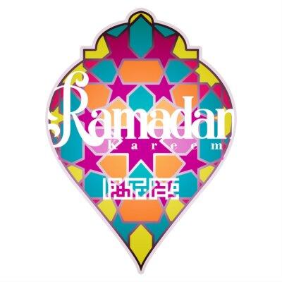 Bild Ramadan kareem with beautiful Islamic pattern and Arabic calligraphy for background and greeting card