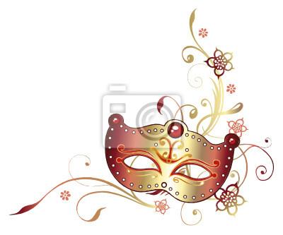 Ranke Karneval Fasching Maske Blumen Leinwandbilder Bilder