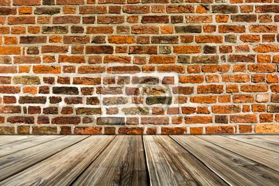 steinwand, raum aus steinwand mit holzboden leinwandbilder • bilder holzboden, Design ideen