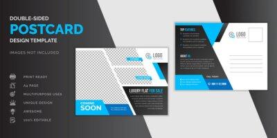 Bild Real estate blue postcard or EDDM postcard design template