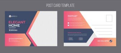 Bild Real estate postcard template design