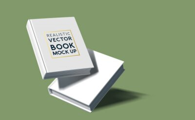 Bild Realistic blank hardcover book template. Vector marketing illustration.