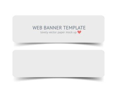 Realistische vektor-web-banner, header, fußzeile leinwandbilder ...