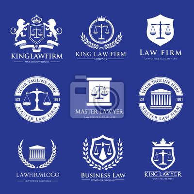 Recht Buro Logo Collection Lawyer Symbol Der Richter Kanzlei