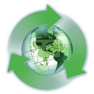 Recycling Usa grüne Welt